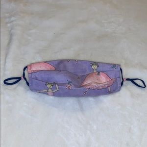 Fabric Face Mask Purple Pink Ballerina Princess